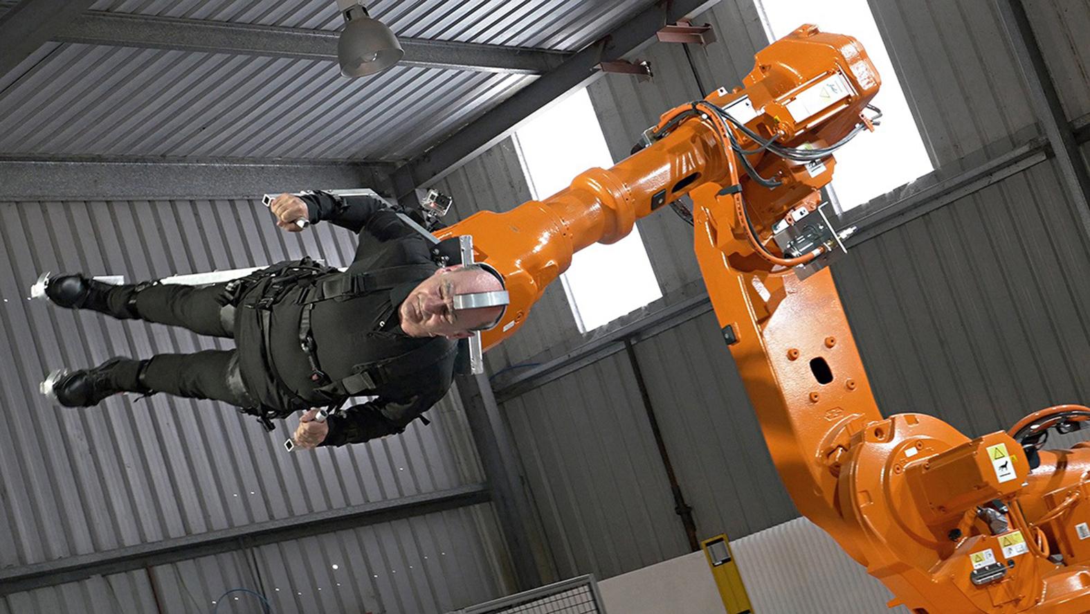 4. Propel - Body on Robot Arm Stelarc